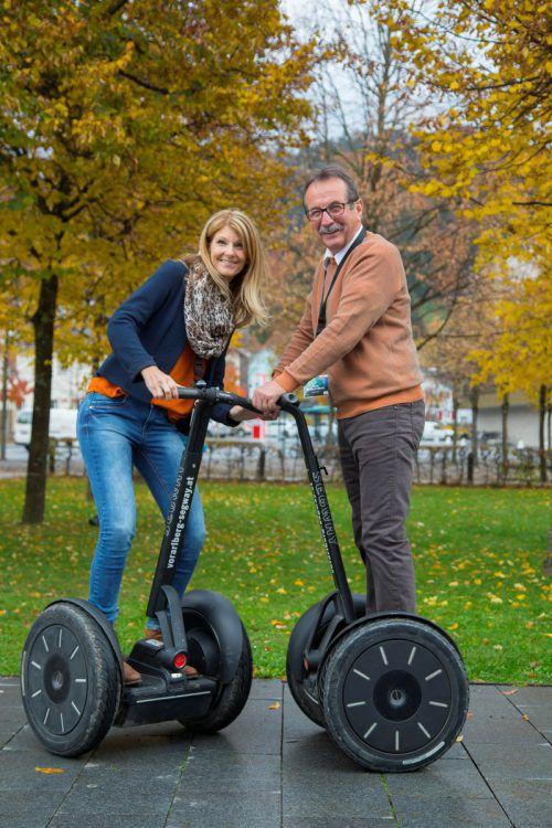 Initiator Walter Eberle und Projektleiterin Sonja Blumauer geben Gas für die Lehre.