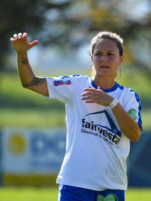 Jasmine Kirchmann musste das Feld verletzungsbedingt verlassen.VN-Lerch
