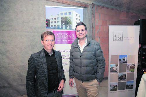 Joe Welte (INSIDE96) mit Mieter Zahnarzt Dr. Markus Hafner.Foto: inside 96