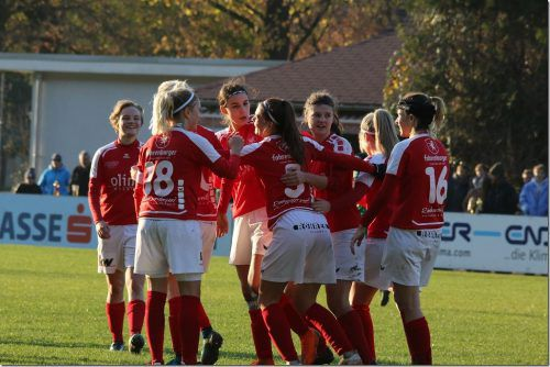 Jubeln, wie zuletzt gegen Wacker Innsbruck, wollen die RW-Frauen auch im Viertelfinale des ÖFB Ladies Cup.Knobel