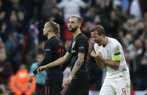 Kane schoss England zum Gruppensieg und Kroatien in Liga B.AP