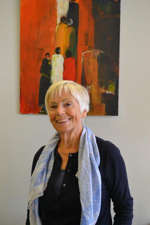"""""""Malen bedeutet für mich eine ganz eigene Ausdrucksmöglichkeit"""", sagt Gisela Nachtnebel. BI"""