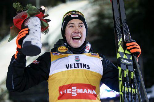 Mario Seidl sorgte für den ersten Sieg der ÖSV-Kombinierer seit zwei Jahren. GEPA