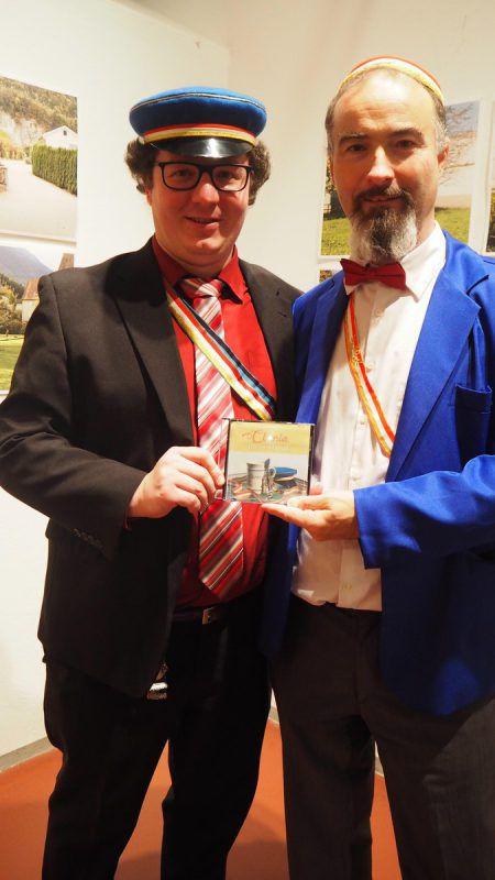Martin Bürgermeister (links) mit Clunia-Philistersenior Achim Zortea.