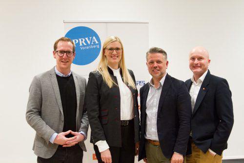 Martin Dechant, Martina Märki, Bernhard Bauer und Simon Lindenthaler. PRVA