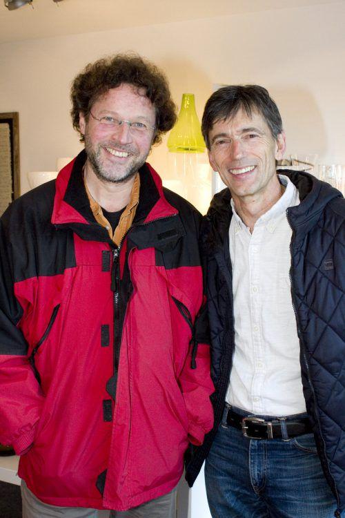 Mathias Siegers (l.) und Christof Weidinger (Stadtmusik Dornbirn).