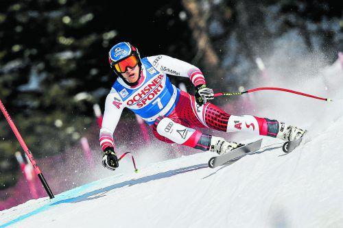 Matthias Mayer möchte nach vier zweiten Plätzen in Lake Louise endlich von ganz oben herunterlachen.gepa