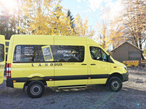 Mehr als 80 Haltepunkte fahren die kleinen Landbusse an.  Landbus Unterland