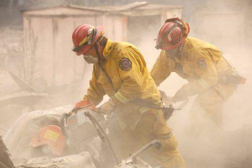 Mehrere Tausend Feuerwehrleute sind im Kampf gegen die Flammen im Einsatz. Rts
