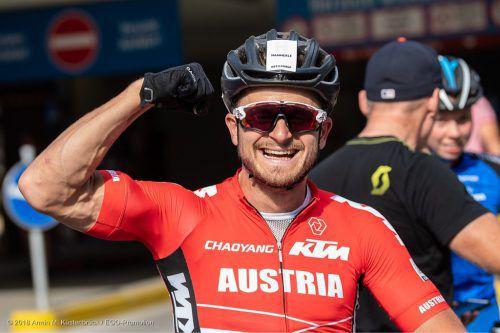 Mountainbike-Weltmeister Daniel Federspiel steigt auf die Straße um. VN