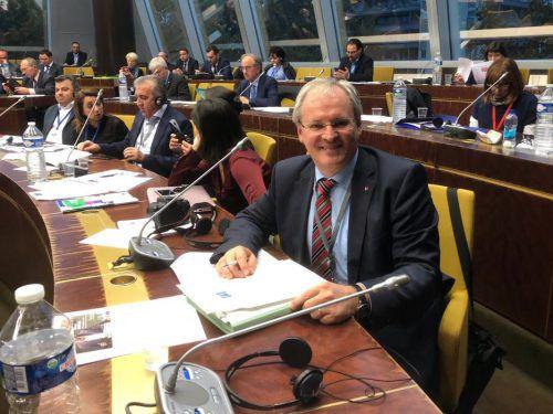 Neuer Vizepräsident der Kammer der Regionen: Harald Sonderegger. VLK