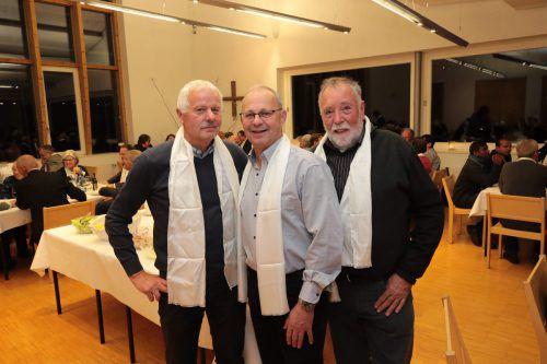 Neumitglieder Franz Hadler, Wolfgang Loacker und Dietmar Hofer.