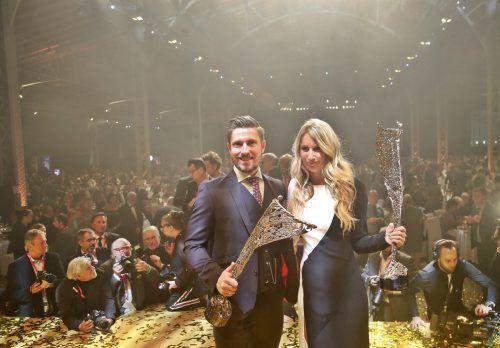 Österreichs Beste im Sport 2018: Marcel Hirscher und Anna Gasser. Gepa