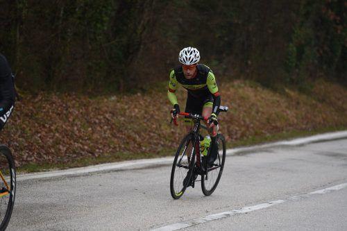 Patrick Schelling verpasste bei der Tour of Hainan nur knapp Platz drei. Teamvorarlberg