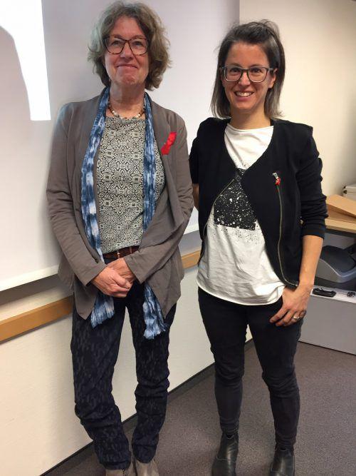 Renate Fleisch (l.) hat die Übergabe der Leitungsfunktion innerhalb der Aidshilfe schon geregelt und an Angela Knill abgetreten.vn/mm
