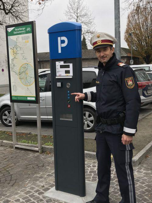 René Schreiber wird sich künftig mit der Parkkontrolle beschäftigen. VN-HK