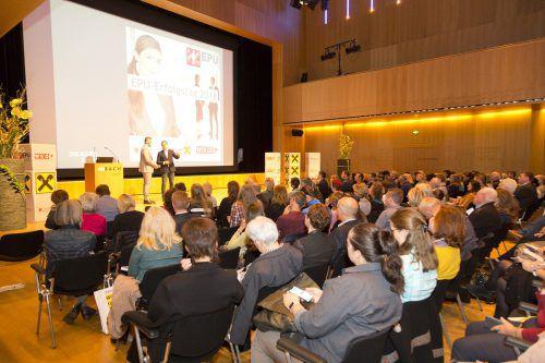 Rund 350 Interessierte besuchten den EPU-Erfolgstag der Wirtschaftskammer Vorarlberg 2018 in der Kulturbühne AmBach in Götzis. WKV/Mathis