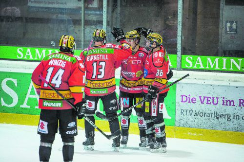 Sieben Siege in den vergangenen acht Spielen, die VEU Feldkirch ist in der AHL auf Höhenflug.stiplovsek