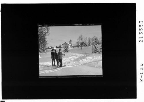 Skifahren im verschneiten Sulzberg anno 1969.