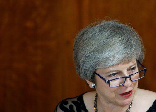 Theresa May ist erleichtert, dass eine Einigung erzielt werden konnte. reuters