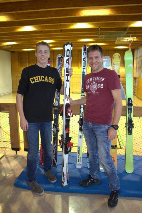 Thomas und Jonas haben ein Faible für gute Ski. HE