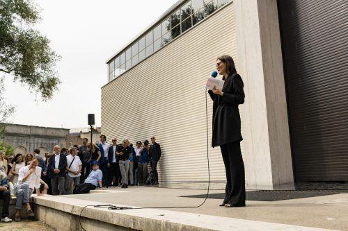 Verena Konrad bei der Eröffnung des Austria-Pavillons bei der Architektur-Biennale in Venedig im Mai dieses Jahres. Biennale/Todorivic