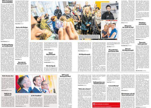 VN-Leserbriefseiten vom 8. November 2018.