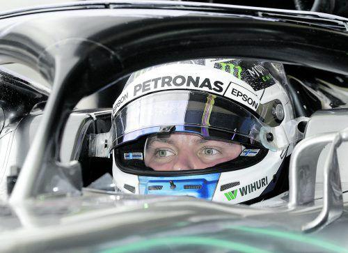 Vor Lewis Hamilton und Sebastian Vettel: Mercedes-Pilot Valtteri Bottas stach im Training in Sao Paulo die Stars aus.ap