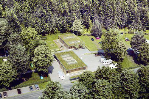 Wie auf dieser Computeranimation soll der neue Campingplatz Enz in einem halben Jahr aussehen. Stadt