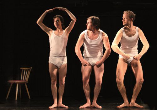 """Wir haben das """"Feinripp Ensemble"""" an unsere Schule geholt. Am 15. November spielen sie letztmalig """"Shakespeares sämtliche Werke""""."""