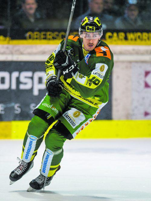 Zwei Tore gegen Laibach: EHC-Stürmer Adis Alagic.VN-Lerch
