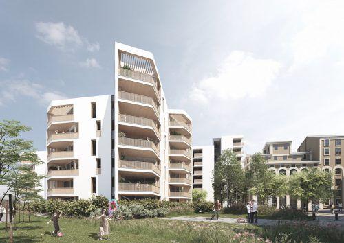 240 Wohnungen entstehen im Salzburger Quartier Rauchmühle. Fa