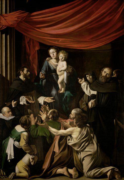 """Ab 10. Juli heißt es im Kunsthistorischen Museum """"Caravaggio & Bernini"""". Im Bild die Rosenkranzmadonna von Michelangelo Merisi, genannt Caravaggio. KHM"""