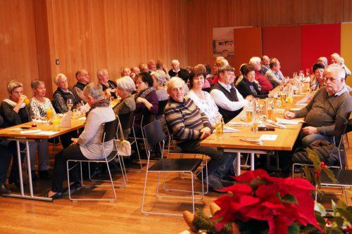 Adventfeier des Ludescher Seniorenverbandes 2018.Hans Bösch