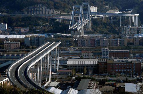 Am 14. August ist die Morandi-Brücke auf etwa hundert Metern Länge eingestürzt. AFP