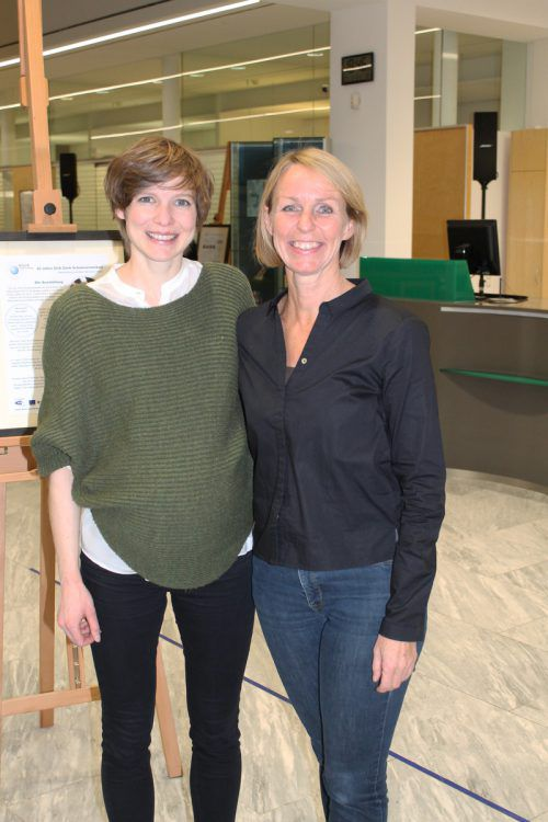 Andrea Schwarzmann (l.) und Ulli Schmid-Santer.