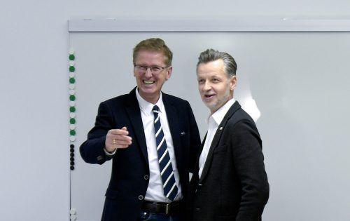 Arbeitgeber-Chefverhandler Thomas Scheiber und vida-Chef Roman Hebenstreit.APA