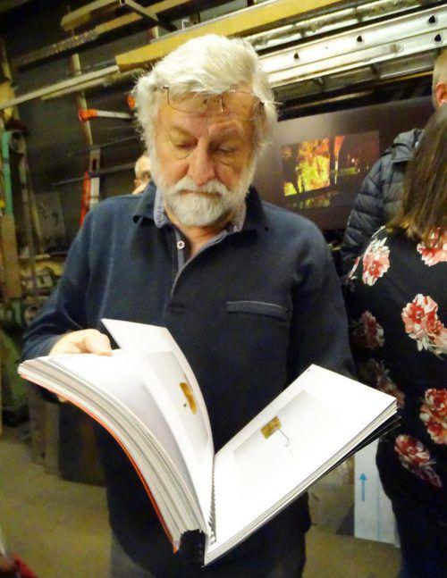 Auch der Künstler Dietmar Fend interessierte sich für Blenkes Schaffen.