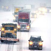 Schneesturm überfällt Südosten der USA