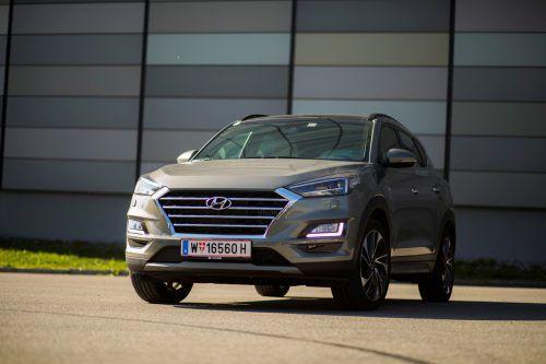 Außen überzeugt der Hyundai Tucson mit markanter Optik und innen mit einem Platzangebot, das weder Fahrer noch Passagieren einen Grund zur Klage gibt.VN/Paulitsch
