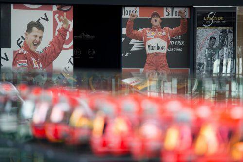 Bei der Motorworld in Köln wurden Schumacher-Exponate ausgestellt.afp