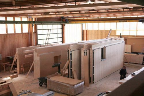 Bei Sohm Holzbautechnik will man künftig nicht nur produzieren, sondern Projekte auch selbst initiieren und gestalten. Startschuss ist in Alberschwende.Fa/SH