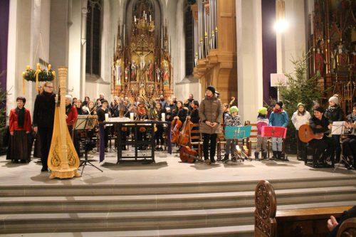 Besinnliche Adventfeier in der Pfarrkirche Frastanz.HE