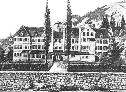 Betriebsgebäude der Spinnerei Juchen um 1812.klaus fessler