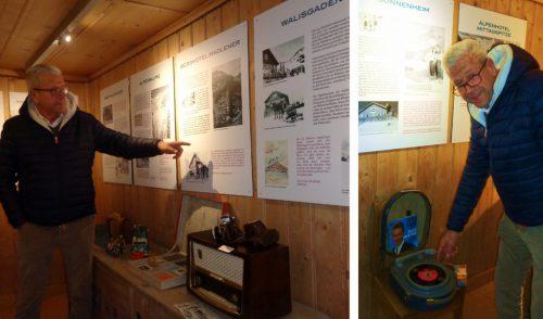 Christian Lingenhöle mit seinen besonderen Beiträgen zur Ausstellung.