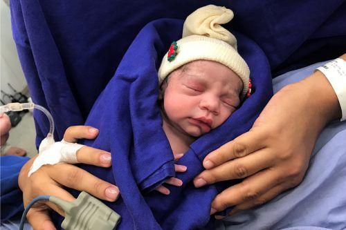Das Baby kam im Dezember 2017 in der 36. Schwangerschaftswoche zur Welt. AP