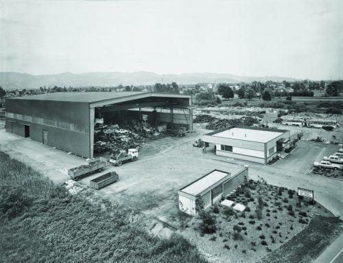 Das Firmengelände von Loacker in Götzis in den 1970er-Jahren. Fritz Hagen/Studio22