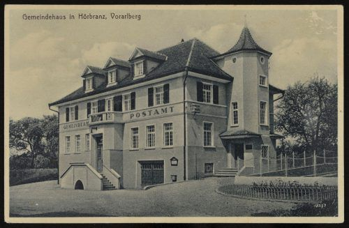 Das Gemeindeamt in der Leiblachtalgemeinde vor 1940.