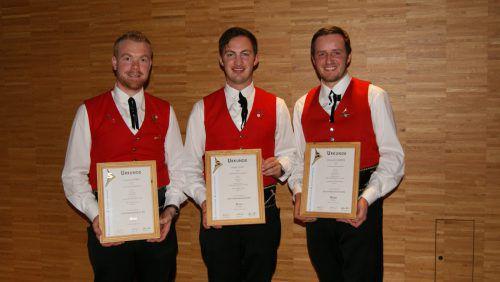 Das goldene Leistungsabzeichen wurde an Kevin Mitter, Niklas Vogt und Daniel Scherrer verliehen. Pfitscher (2)