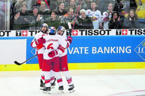 Das Halbfinale wartet: Alexander Pallestrang, Matthias Trattnig, Brant Harris.gepa
